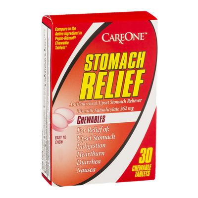 CareOne Stomach Relief Chewable Tablets - 30 CT