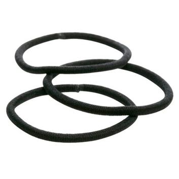 Goody 36Ct Thin Black Elastics