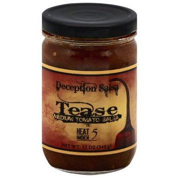 Deception Salsa Tease Medium Tomato Salsa, 12 oz, (Pack of 6)
