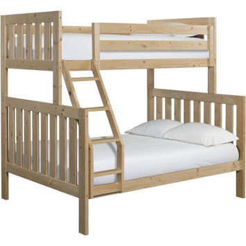 Canwood Furniture Lakecrest Twin Over Full Bunk Bed Finish: Natural