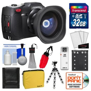 SeaLife DC1400 Reef Edition HD Underwater Digital Camera with Fisheye Lens & Travel Case with 32GB Card + Battery + Flex Tripod + Cleaning & Accessory Kit