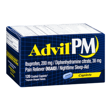Advil PM Pain Reliever/Nighttime Sleep-Aid - 120 CT