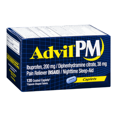 Advil PM Pain Reliever/Nighttime Sleep-Aid - 120 CT