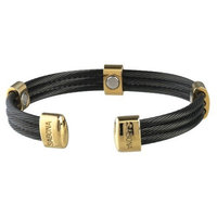 Sabona 36460 Trio Cable Black/Gold Magnetic Bracelet, Extra Small
