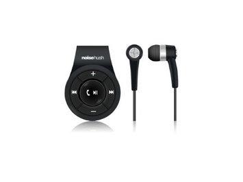 NoiseHush Clip On Bluetooth Stereo Headset Black Via Ergoguys
