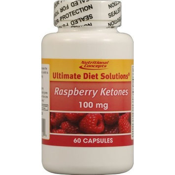 Nutritional Concepts Raspberry Ketones -- 100 mg - 60 Capsules