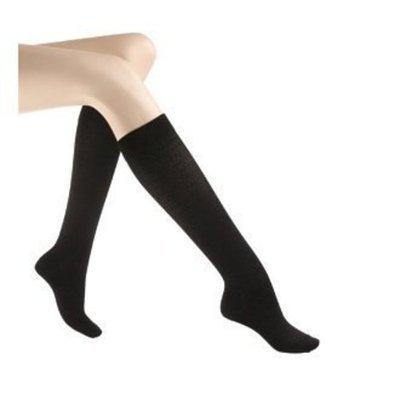 Jobst Women's CasualWear 20-30 mmHg Knee High Sock Size: Medium, Color: Black