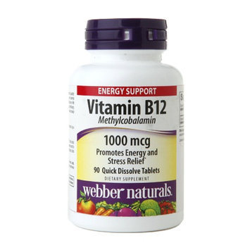 Webber Naturals Vitamin B12 1000mcg Quick Dissolve tablets