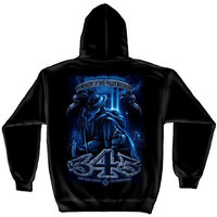 ERazorBits Apparel Brotherhood Never Forget 343 - Firefighter Hooded SweatShirt [2X-Large]