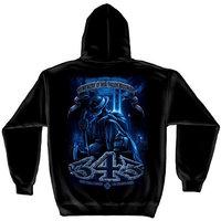 ERazorBits Apparel Brotherhood Never Forget 343 - Firefighter Hooded SweatShirt [2X-Large]