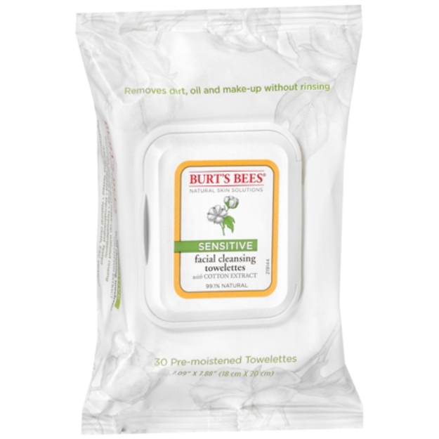 Burt's Bees Facial Cleansing Towelettes - Sensitive