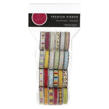 American Crafts Seasonal 2 Premium Ribbon Value Pack - 24 Spools