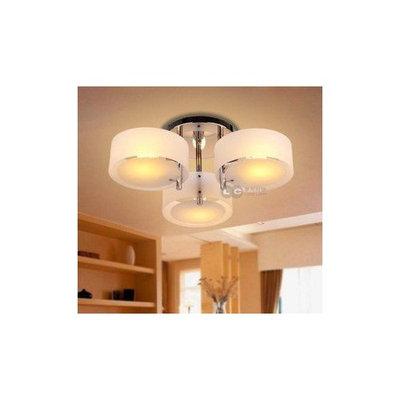 ANN Lights 3 Light Simply Style Semi-Flush Mount Ceiling Light with Acrylic Light Shade, Chrome
