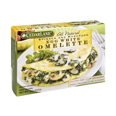 CedarLane All Natural Spinach and Mushroom Egg White Omlette