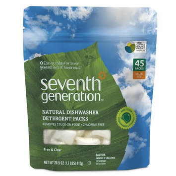 Seventh Generation Natural Dishwasher Detergent Packs - Free and