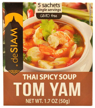 DeSiam Instant Soup Thai Spicy Tom Yam 1.7 oz