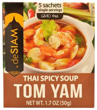 DeSiam Instant Soup Thai Spicy Tom Yam 1.7 oz