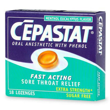 Cepastat Sugar Free Oral Anesthetic Lozenges with Phenol