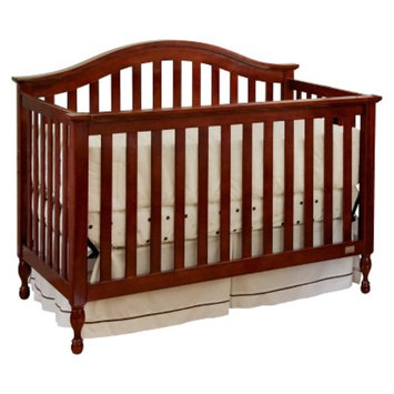 Lolly & Me Bailey 4-in-1 Convertible Crib - Cherry
