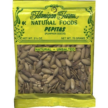 Flanigan Farms Natural Foods Pepitas (Pumpkin Seeds) Raw, Unsalted 2.5oz (6 Pack)