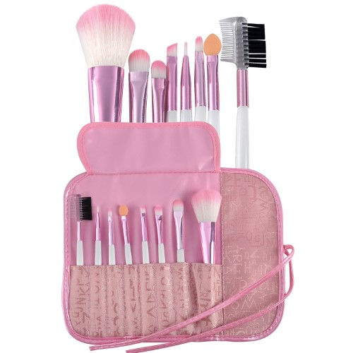 Eforcity Zodaca 8-piece Set Makeup Brushes with Pouch Bag, Pink
