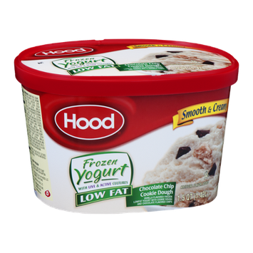 Hood Frozen Yogurt Low Fat Chocolate Chip Cookie Dough