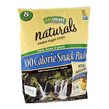 Snyder's EatSmart Naturals 100 Calorie Snack Packs Potato, Tomato & Spinach Garden Veggie Crisps - 8 CT