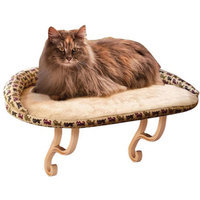 K & H Manufacturing Deluxe Kitty Sill with Bolster, Leopard, 1 ea