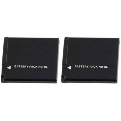 Replacement Battery For Canon NB-8L (2 Pack)