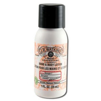 J.R. Watkins Hand And Body Lotion Mango - 1 Oz Pack of 20