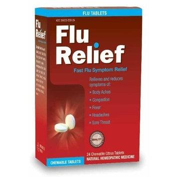 Natra-bio Natrabio Flu Relief Tablets, Citrus, Chewable, 24 Count