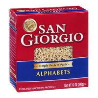 San Giorgio Enriched Macaroni Product Alphabets