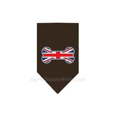 Ahi Bone Flag UK Screen Print Bandana Cocoa Small