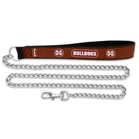 Sierra Accessories Mississippi State Bulldogs Football Leather 3.5mm Chain Leash - L
