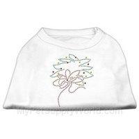 Mirage Pet Products 522515 XXLWT Christmas Wreath Rhinestone Shirt White XXL 18