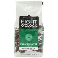 Eight O'Clock Coffee, Decaffeinated Whole Bean, 12-Ounce Bag (Pack of 4)