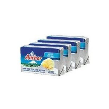 Anchor Butter New Zealand, Unsalted. Pack of 4