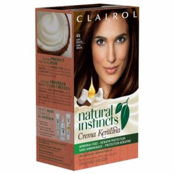 Clairol Natural Instincts Crema Keratina Hair Color, 4N Dark Brown, 1 set