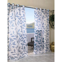Outdoor Decor Escape Leaf Indoor/Outdoor Grommet Top Window Sheer -