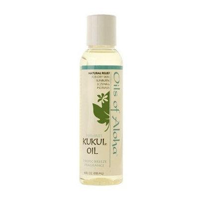 Oils Of Aloha Hawaii Kukui Nut Oil with Tropic Breeze Fragrance 4 oz