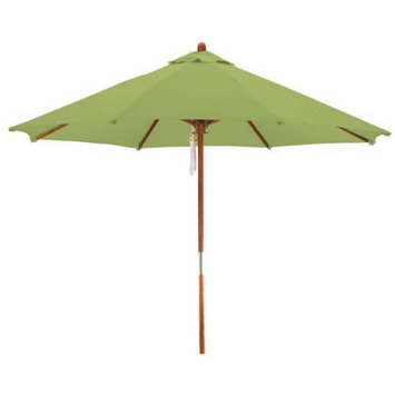 Lauren & Company Round Lime Green Patio Umbrella with Pulley (Common: 108-in; Actual: 108-in) LCUD003R-LIME