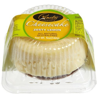 Pamela's Products Zesty Lemon Cheesecake, 3-Inch Cakes (Pack of 8)