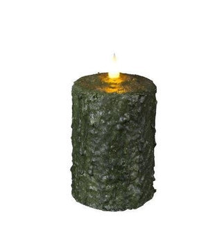 Delighted Home MC-W5G Hand-Waxed Battery-Operated 5 in. Green MC Pillar Candle