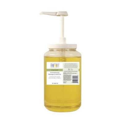 Aura Cacia Unscented Massage Oil, 1 gallon (Pack of 4)