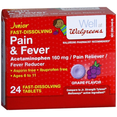 Walgreens Junior Pain Reliever Meltaways