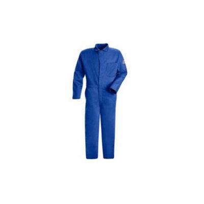 Bulwark FR Contractor Coverall (Blue, L, HRC2). Model: CEC2RB RG/42