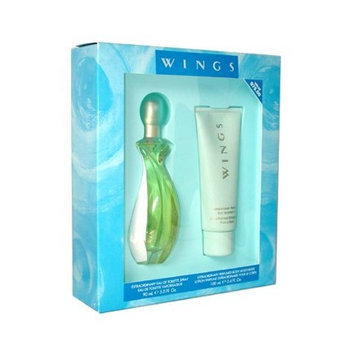Giorgio Beverly Hills Wings By Giorgio Beverly Hills For Women. Gift Set (eau De Toilette Spray 3.0-Ounces + Body Lotion 3.4-Ounces).