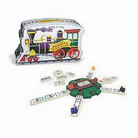 Fundex Games Mexican Train Dominoes Game in a Tin Ages 8+