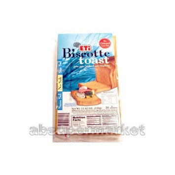 Eti Biscotte Toasted Bread No Salt 336g (36 Slices)