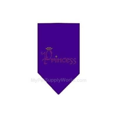 Ahi Princess Rhinestone Bandana Purple Small
